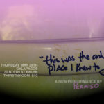 announcement for 'this was the only place i knew to go'
